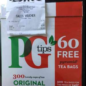 PG Tips Original 300 Tea Bags £3.50 at B&M