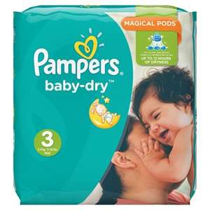 Pampers Baby-Dry Nappies Size 3 (Pack of 198) £5.65 @ Amazon prime exclusive (S&S + £6.00 voucher)