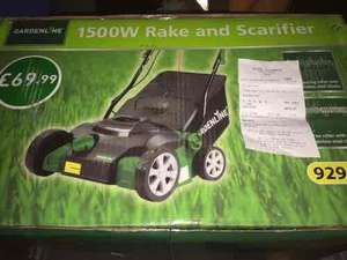 Greenline 1500w scarifier £35 **NOW ONLINE with FREE DELIVERY** @ Aldi