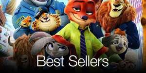 Disney  (includes Zootropolis) Buy Two Disney DVDs for £11.99 / Two Blu-rays for £14.99 / Two Blu-ray 3d £17.99 @ Amazon (possible £1.99 postage cost @ Amazon)