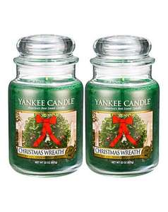 2 x large Christmas Wreath Yankee Candles for £17.50 plus £3.50 p&p £21 jd williams online