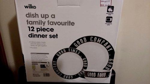12 Piece Dinner Set Scanning at £3.00 @ Wilko Norwich