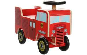 Upto 50% Off Ride On Toys @ Halfords ie Kiddimoto Wooden Ride On Fire Engine will be £60 now £29