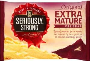 Seriously Strong Mature and Extra Mature Cheddar Cheese 500g at Home Bargains £1.99