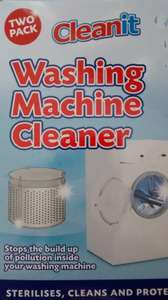Cleanit Washing Machine Cleaner Twin Pack 79p @ Homebargains
