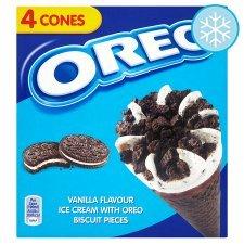 Oreo Cones 4 x 100ml/ Cornetto Mint / Classico / Strawberry 4 x 90ml £1.00 @ Tesco