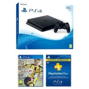 PS4 Slim 500GB with FIFA 18 and 1 Year PSN Subscription £295 @ Argos
