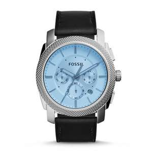 Machine Chronograph Black Leather Watch( Free engraving) reduced from £135 to £69 @ Fossil