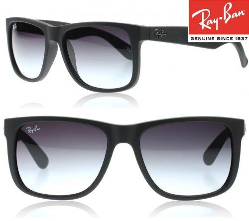 Ray-Ban Justin Black Wayfarer Sunglasses, Free Delivery, w/code £60.35 @ SunglassesShop