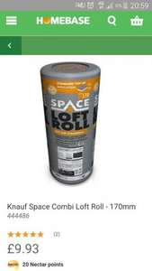 Knauf loft insulation 170mm Homebase £9.93 instore only  *store specific*