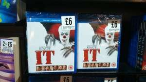 Stephen King's It  Blu-ray (and ultraviolet) £6.00 at Fopp