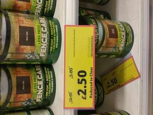 Cuprinol less mess Autumn Red 5L fence care for £2.50 @ Tesco Osterley