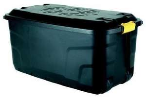 Heavy Duty Ward 145 Litre Storage Trunk on Wheels Black £14.68 (Prime) / £19.43 (non Prime) @ Amazon