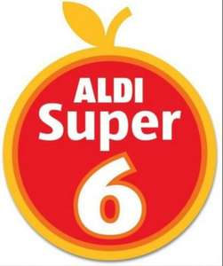 ​​Aldi - Super 6 Fruit & Vegetables - 45p from 6th October - 19th October 2016: Leeks (500g); Baking Potatoes (4)/Beetroot (500g); Swede; Onions (1Kg); Brussels Sprouts (500g); Parsnips (600g)...