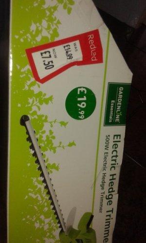 Garden line electric hedge trimmer £7.50 at Aldi Ashbourne