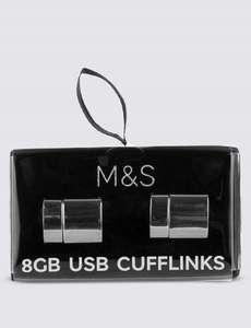 Just got cheaper!! M&S 8GB USB drive cufflinks! Was £25, then £10, now £6.40!! Free C&C