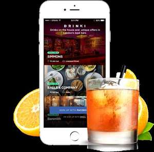 London Drinki app 1 cocktail/drink free every day in choice of 100+ London bars