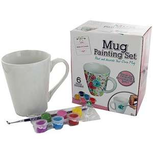 Mug Painting Set £1.60 / Paint Your Own Solar System Planetarium £2.40 / Colour Your Own Christmas Bunting 80p with code @ The Works (+ more in comments ie emoji cushions £1.60, Minions Bop Bag £2.50)