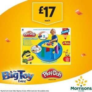 Play-Doh Let's Create Table now £17 in Morrison's In Store Big Toy Event