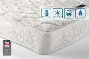 Sleep Easy Memory Foam Sprung Mattress £68.99 delivered @ Living social