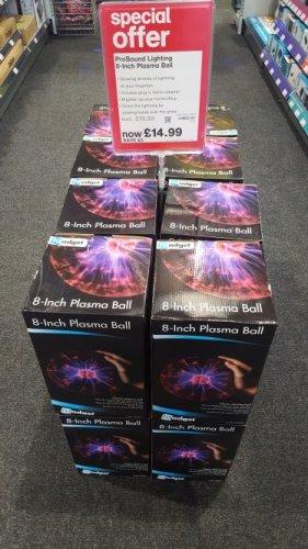 "8"" plasma ball £14.99 maplin"
