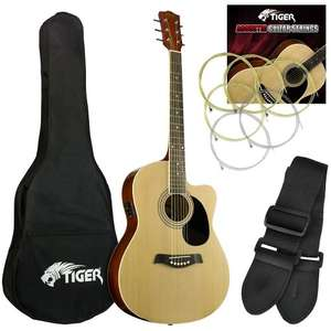 Tiger Electro Acoustic Guitar Pack - £22.60 & free del @ amazon Dispatched from and sold by DJM Music Ltd