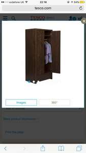 Tribeca Wardrobe Reduced from £249 to £62.25 @ Tesco Direct