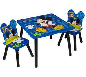 Disney Mickey Mouse, Star Wars Rebels and Marvel Avengers Table and Chair Set (was £39) Now £29.00 at Asda George