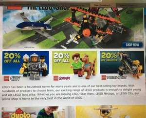 20% off Lego City, Scooby Doo and selected Technic @ Toys r us