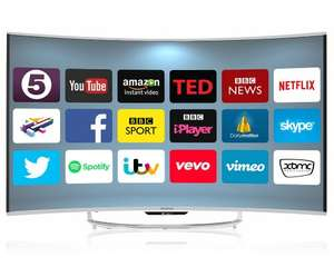 Goodmans G55ANSMT-4K 55 Inch UHD Curved Android Smart LED TV - Silver £549 @ cramptonandmoore / Ebay