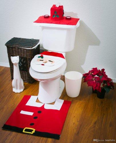Santa toilet seat cover set £4.80 @ The Works