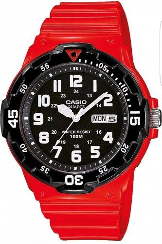 Casio Men's Red 100m Divers Style Easy to read Quartz Analogue Strap Watch £13.99 @ Argos via eBay