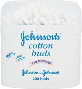 Johnson's Baby Cotton Buds 200 per pack Was £1.00 Now 50p @ Ocado