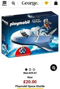 playmobil space shuttle £20 and other playmobil deals @ Asda