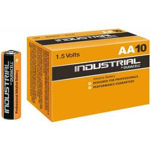 Duracell industrial 10 x AA batteries £2.55 + free p&p or £2.42 with code @ ukdapper