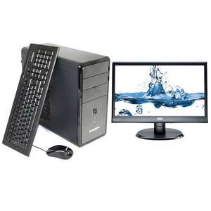 "New Zoostorm 7251-0089 18.5"" Monitor + Tower Bundle Intel 8GB 1TB Windows 10 £215 @ Ebay Tesco outlet"