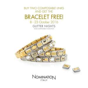 buy 2 nomination charms and recieve a free bracelet at Argento stores and online