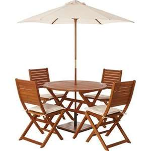 Garden table and chairs (set for four) - Peru £75 @ Homebase