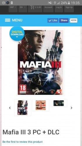 Mafia 3 + DLC PC CDKEYS