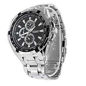 Foxnovo CURREN 8023 Waterproof Men''s Round Dial Stainless Steel Band Quartz Wrist Watch with Paper Package Box £11.99 (prime) £13.98 (non prime) Sold by Uoogifts and Fulfilled by Amazon