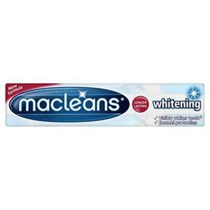 Amazon S&S Macleans Whitening Toothpaste Tube 100ml 76p useful extra item to bump discount to 15%