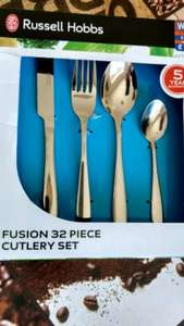 Russell Hobbs - Fusion 32 Piece Cutlery Set - 5 YR Guarntee £14.99 @ B&M
