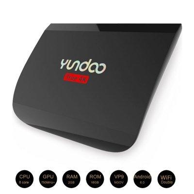 YUNDOO Y2 TV Box Amlogic S912 Octa-core Android 6.0, UK PLUG BLACK, 4K HD H.265 VP9 Decoding 2.4G + 5.0G Dual Band WiFi Bluetooth V4.0 @ Gearbest £43.60