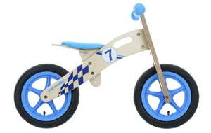 Apollo Wooden Balance Bike - 7 PINK/BLUE £30 @ Halfords