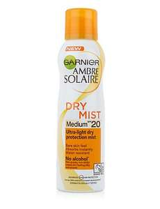 M & S AMBRE SOLAIRE FACTOR SPF 20 DRY MIST BACK IN STOCK £3.60