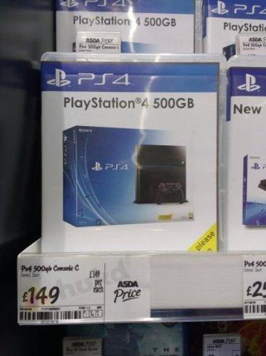 PS4 500GB Console £149 @ Asda Harrogate Instore