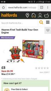 Haynes first tech build your own engine £8 @ Halfords - Free c&c