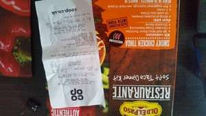 Old El Paso Restaurante Chicken Tinga Soft Taco Dinner Kit - Scanned at £1.00 at Co-Op (Usually £3.69, on offer for £2)