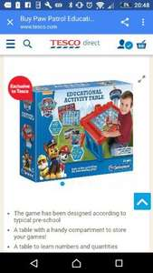 paw patrol educational desk £20  @ Tesco Direct