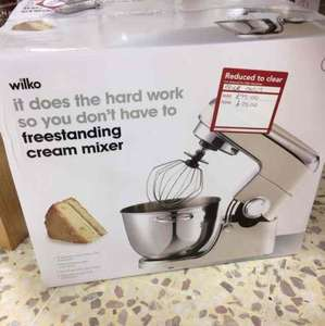 Freestanding Cake Mixer (Cream) Reduced to Clear, was £100 now £25 @ Wilko instore